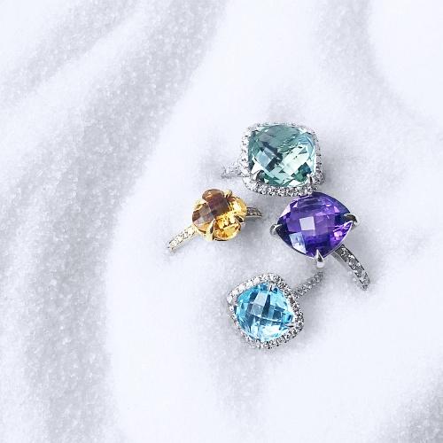 Tassels. Rhodolite Garnet & Sapphire