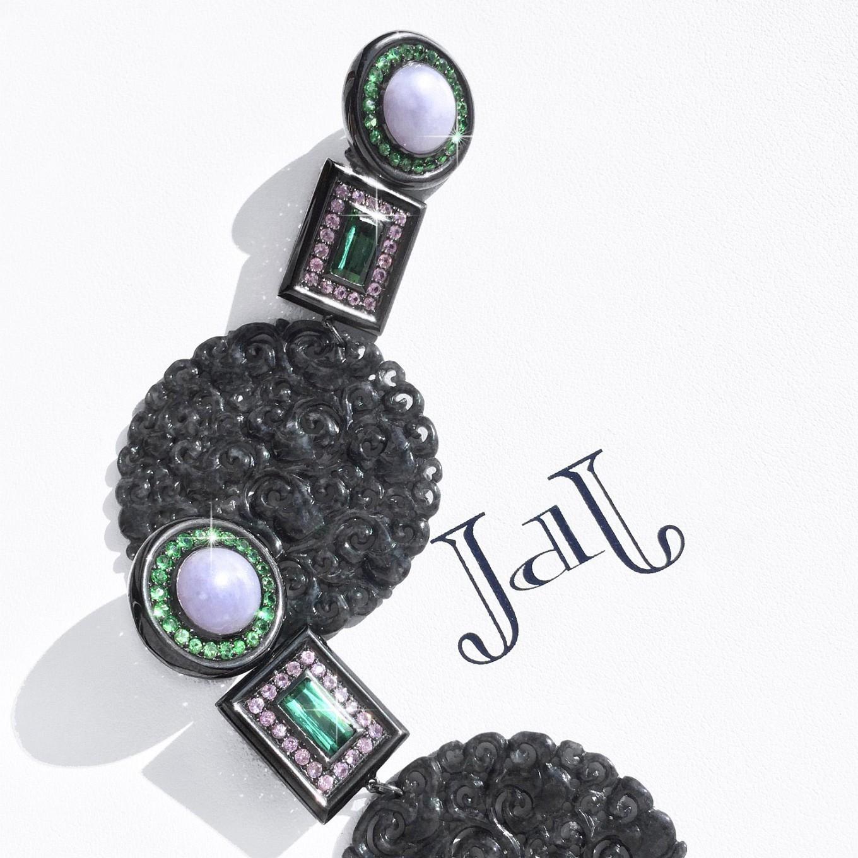 Black Jade. Sapphire - Lavender Jade - Tourmaline – Garnet