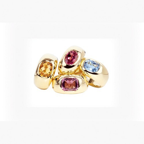 GEMSTONE RINGS IN YELLOW GOLD