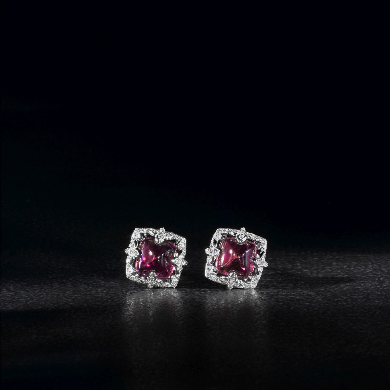 PINK TOURMALINE & DIAMOND SEVILLA EARRINGS