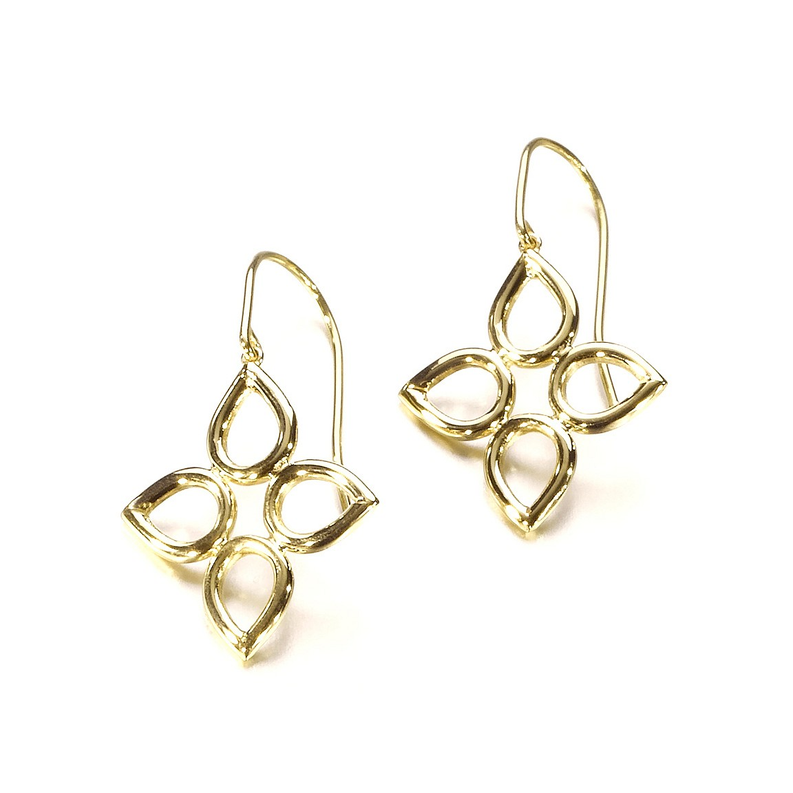 Sevilla wire earrings in 18k yellow or white gold