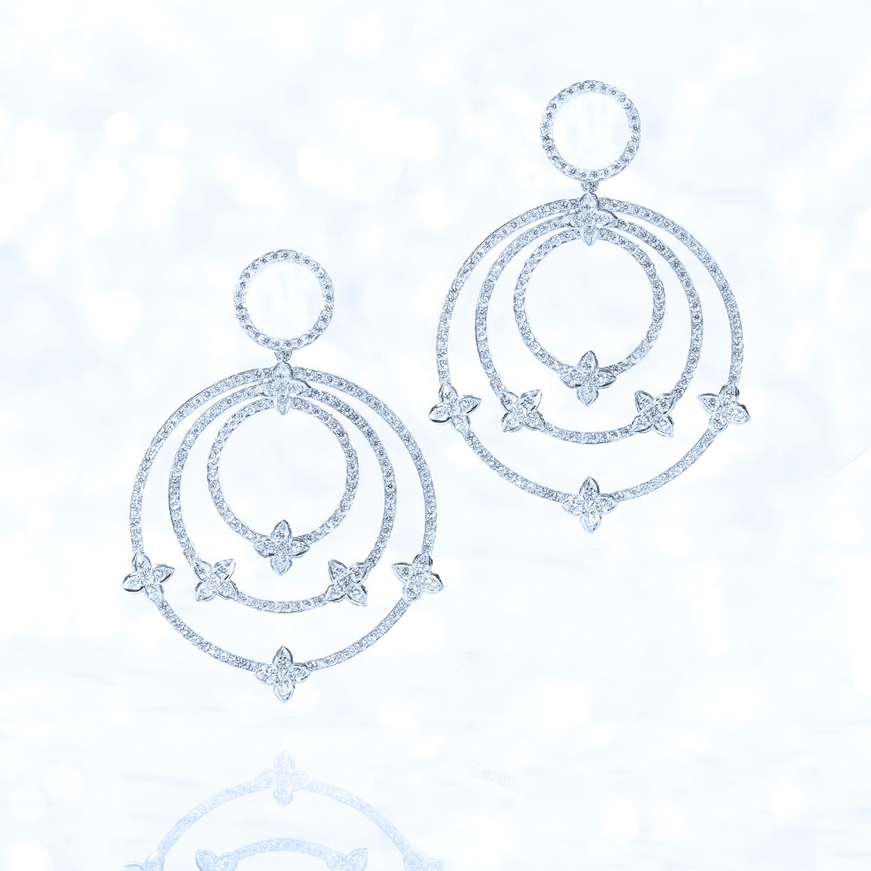 'CIRCLE' DIAMOND SEVILLA EARRINGS