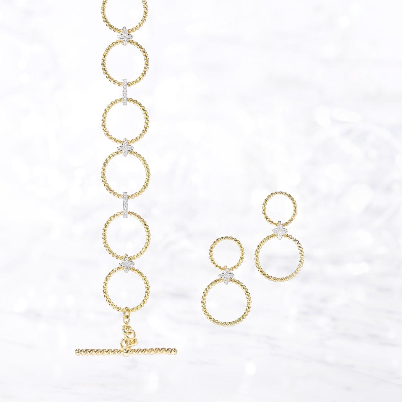 DIAMOND SEVILLA BRAID BRACELET & EARRINGS