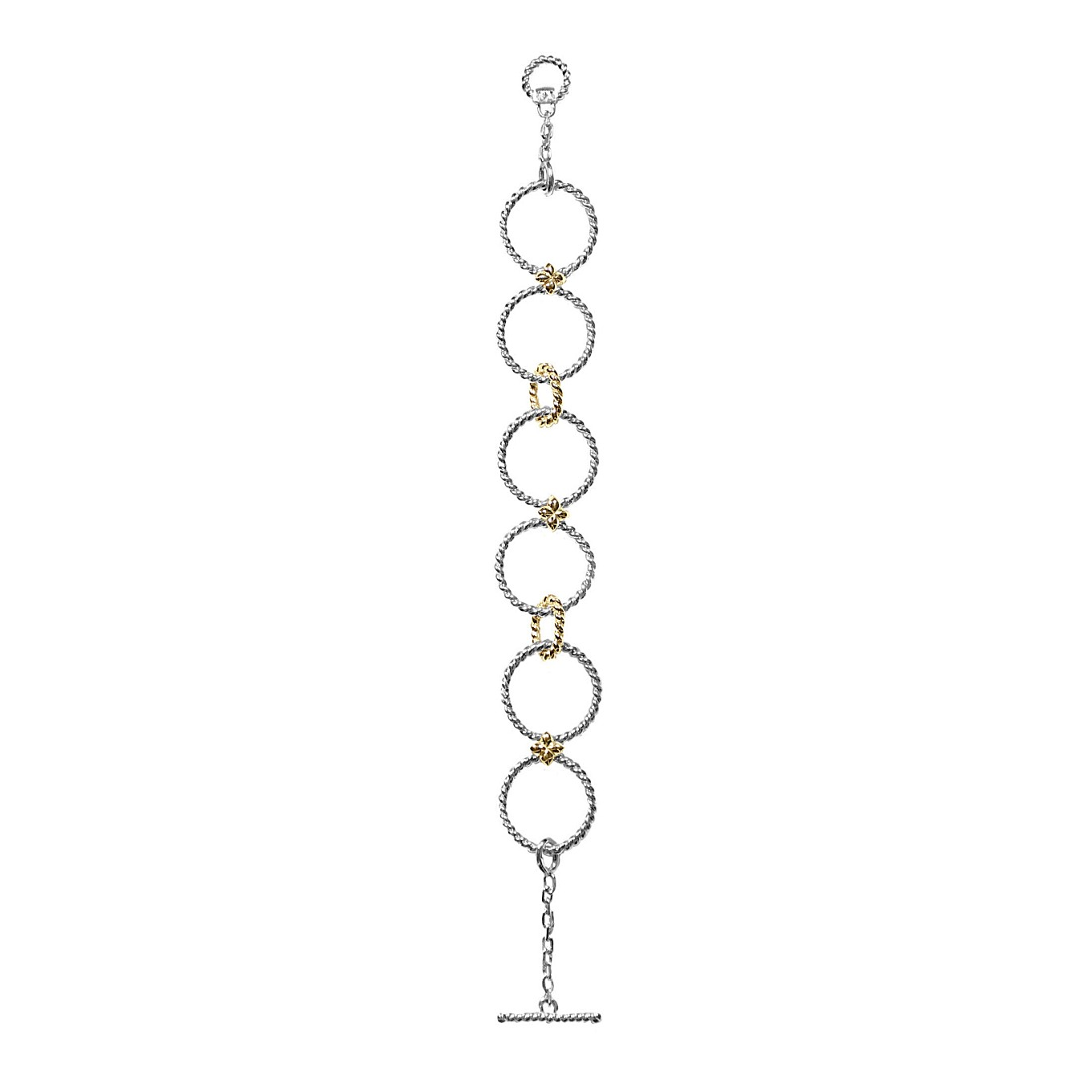 BRAID SEVILLA BRACELET IN STERLING & YELLOW GOLD