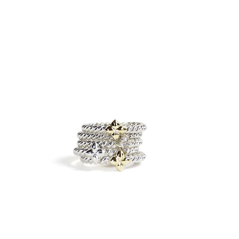 STERLING & GOLD BRAID & SEVILLA BRAID RINGS