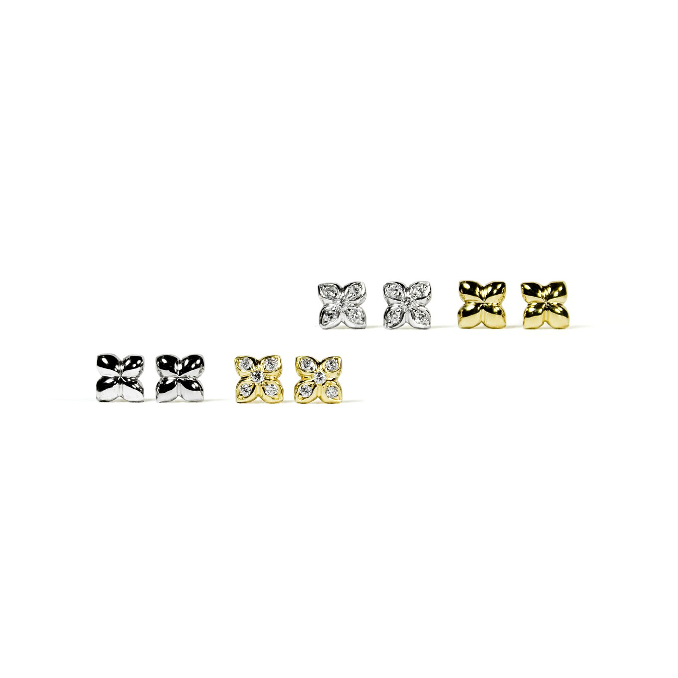 MINI SEVILLA EARRINGS IN GOLD & GOLD & DIAMONDS