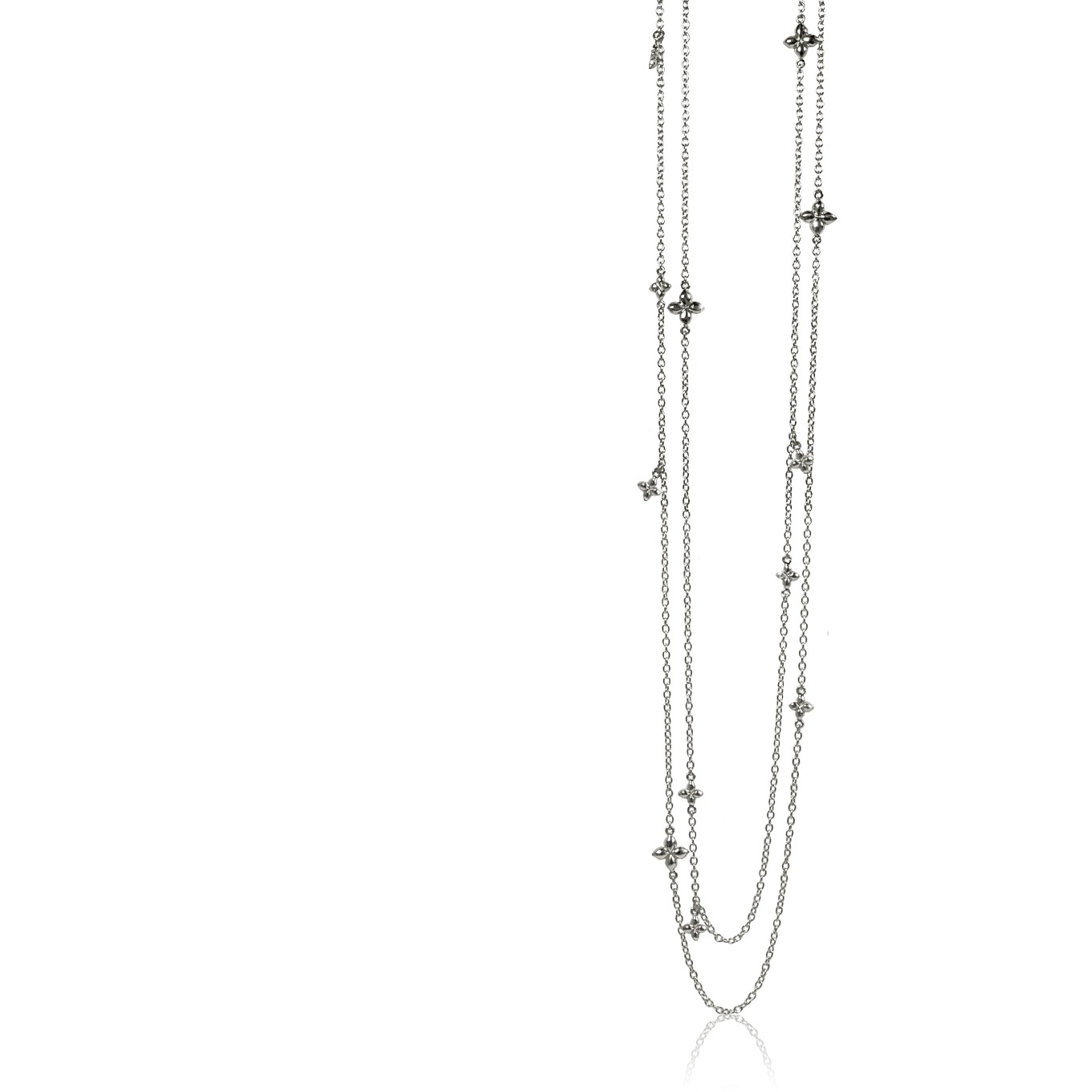 SEVILLA 50 INCH WRAP NECKLACE IN ALL STERLING SILVER