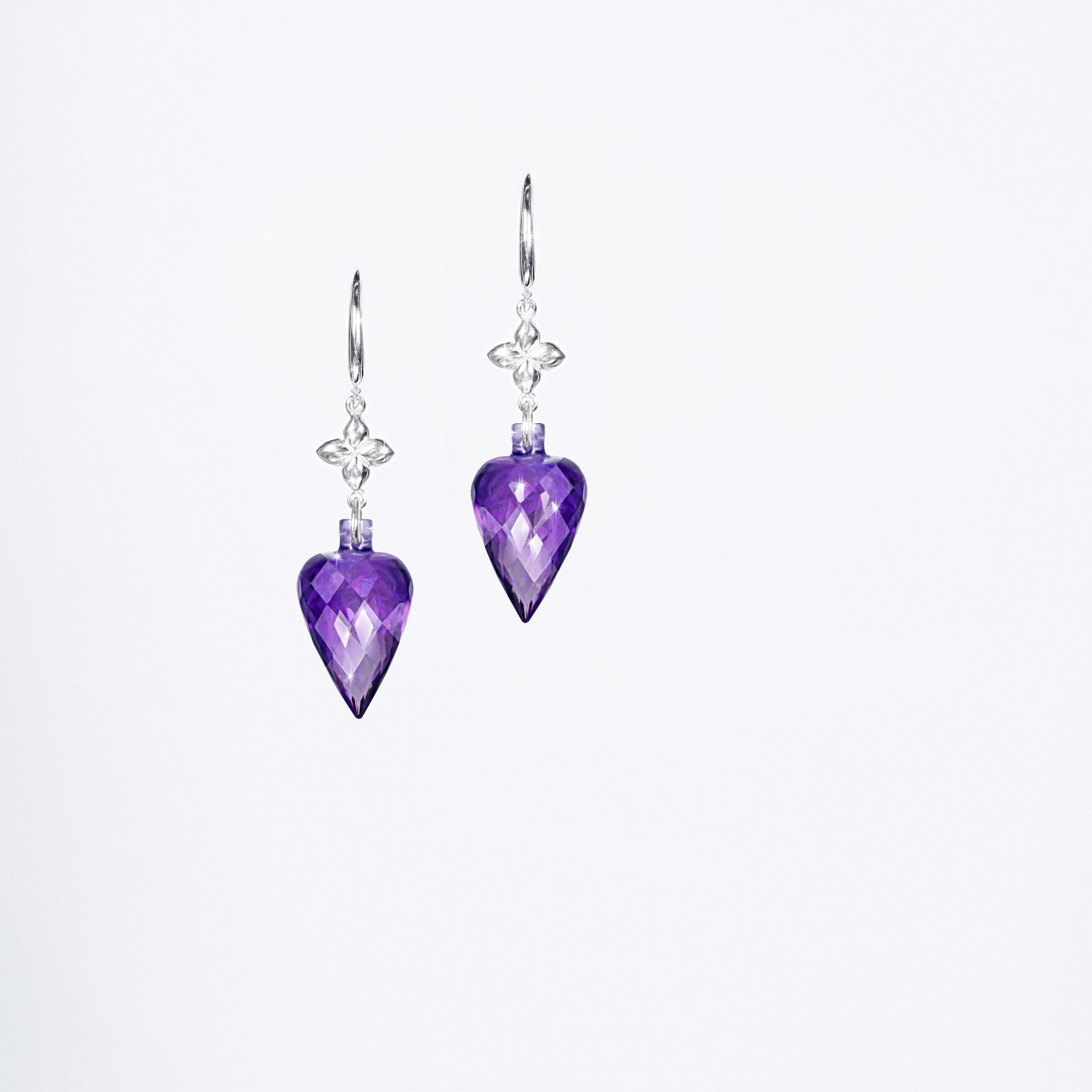 AMETHYST SEVILLA DROP EARRINGS IN STERLING SILVER