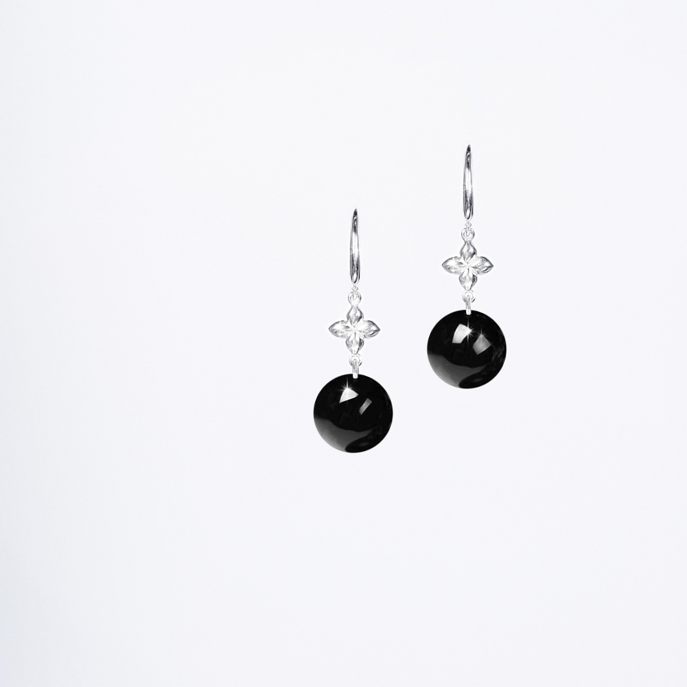 HARDSTONE SEVILLA EARRINGS IN STERLING SILVER