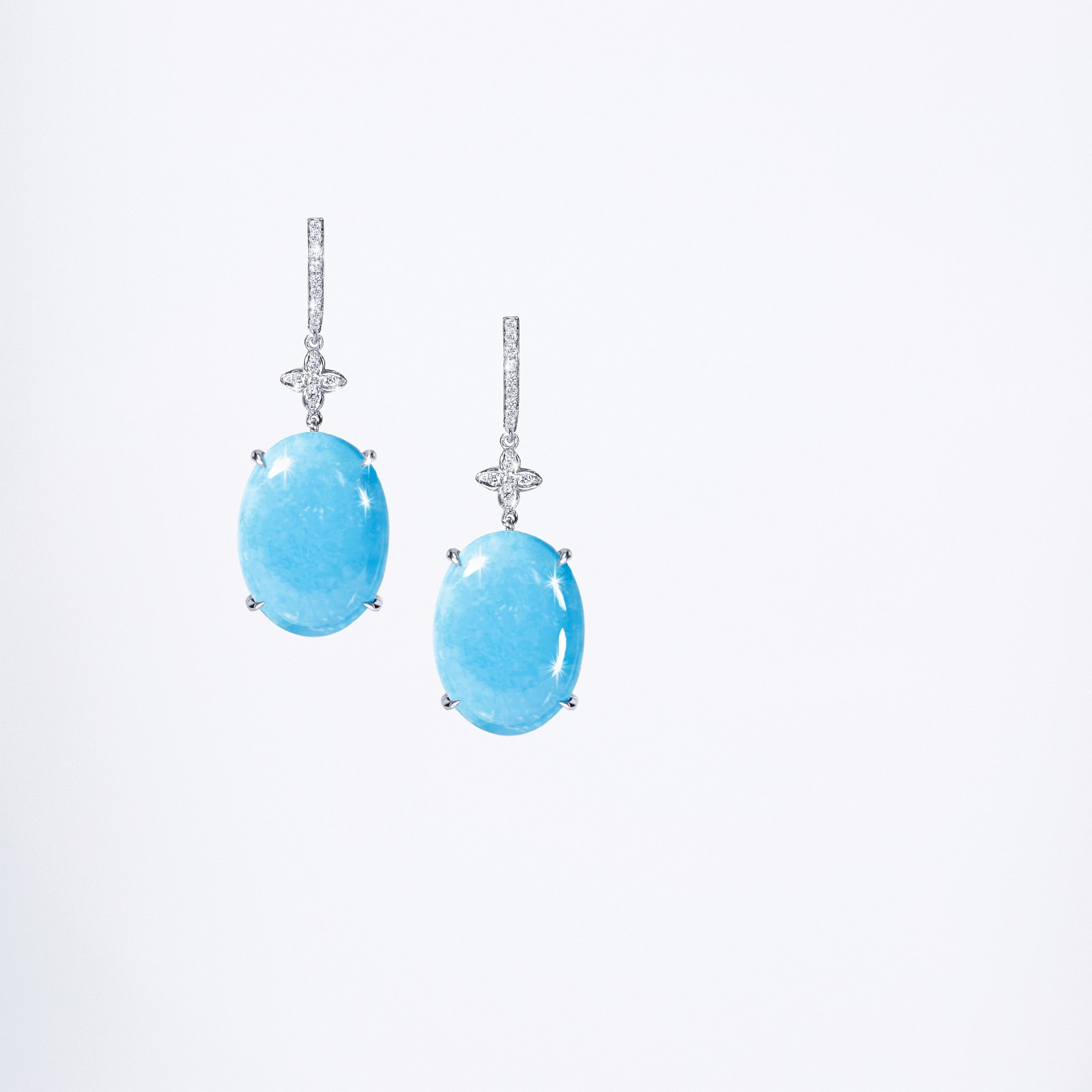 TURQUOISE & DIAMOND SEVILLA EARRINGS
