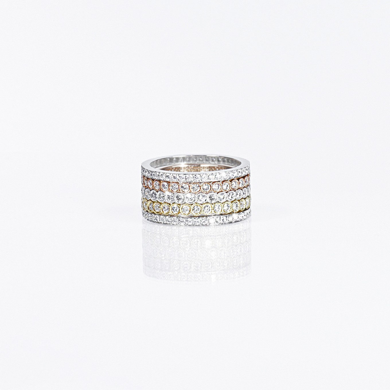 DIAMOND & SAPPHIRE ETERNITY STACKING RINGS