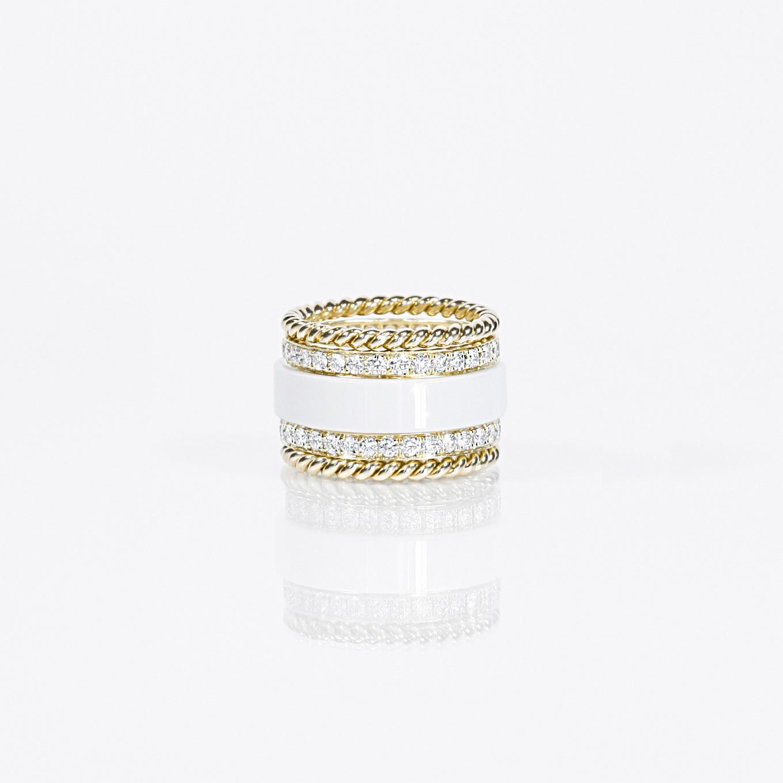 HARDSTONE , DIAMOND ETERNITY & GOLD BRAIDED BANDS