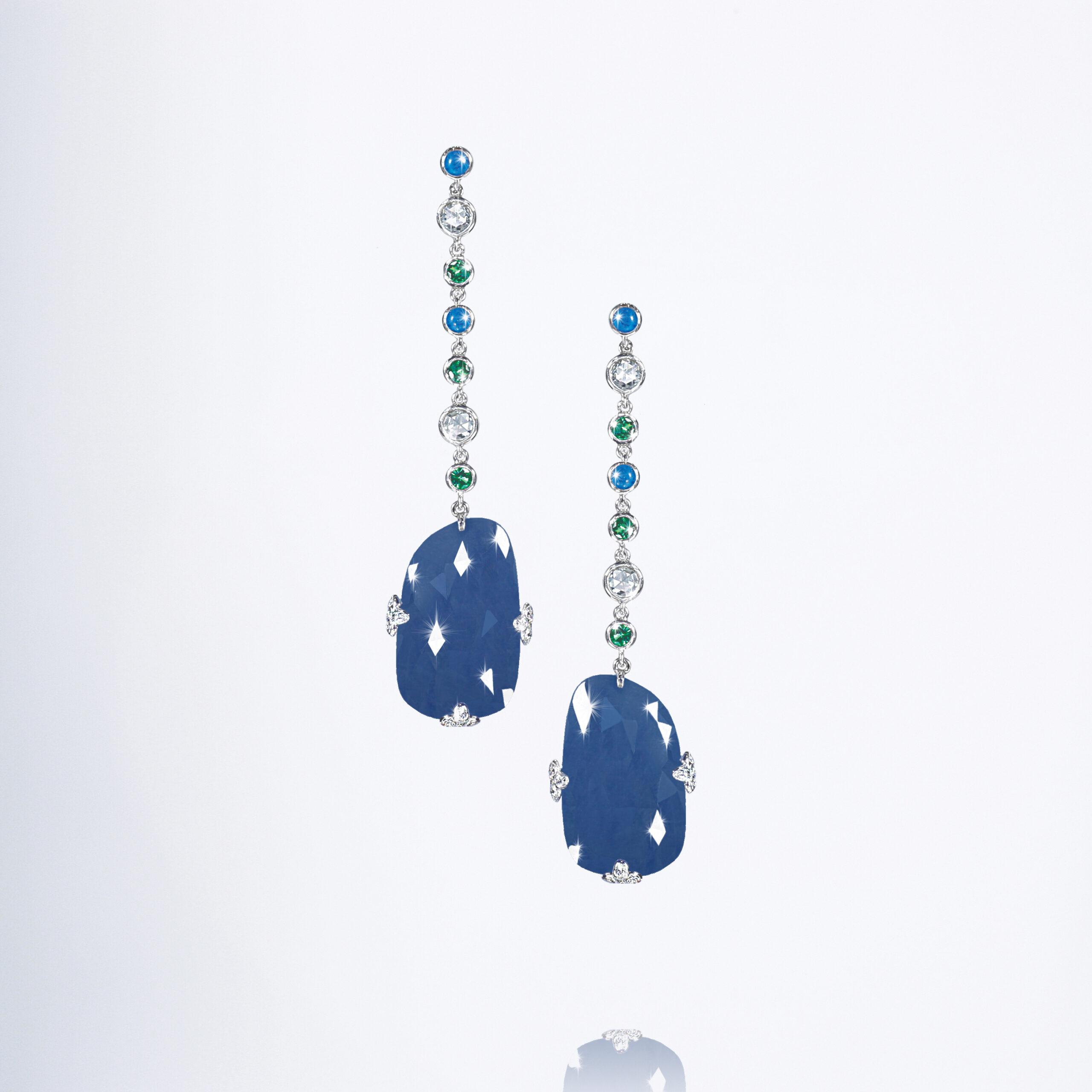 Tumbled' Necklace. Aquamarine ~ Pearl