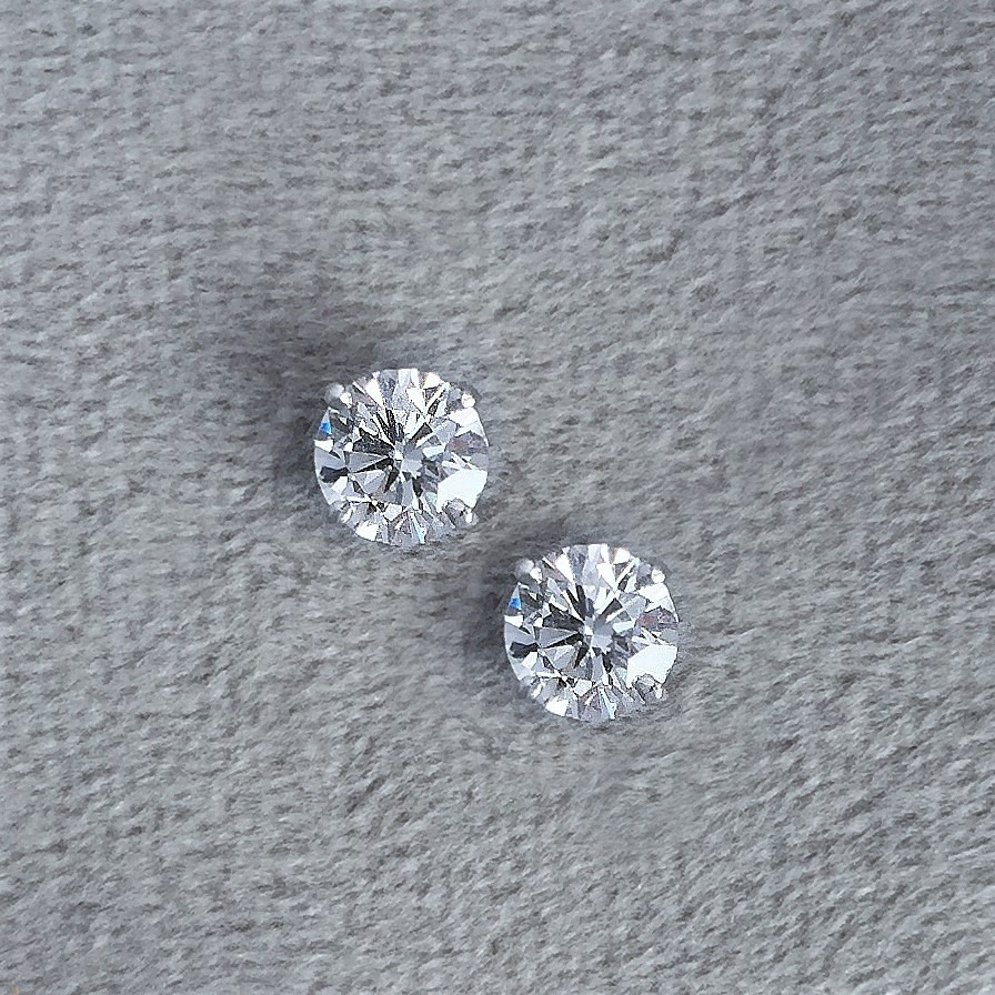 Brilliant cut diamond studs in platinumPrice on request