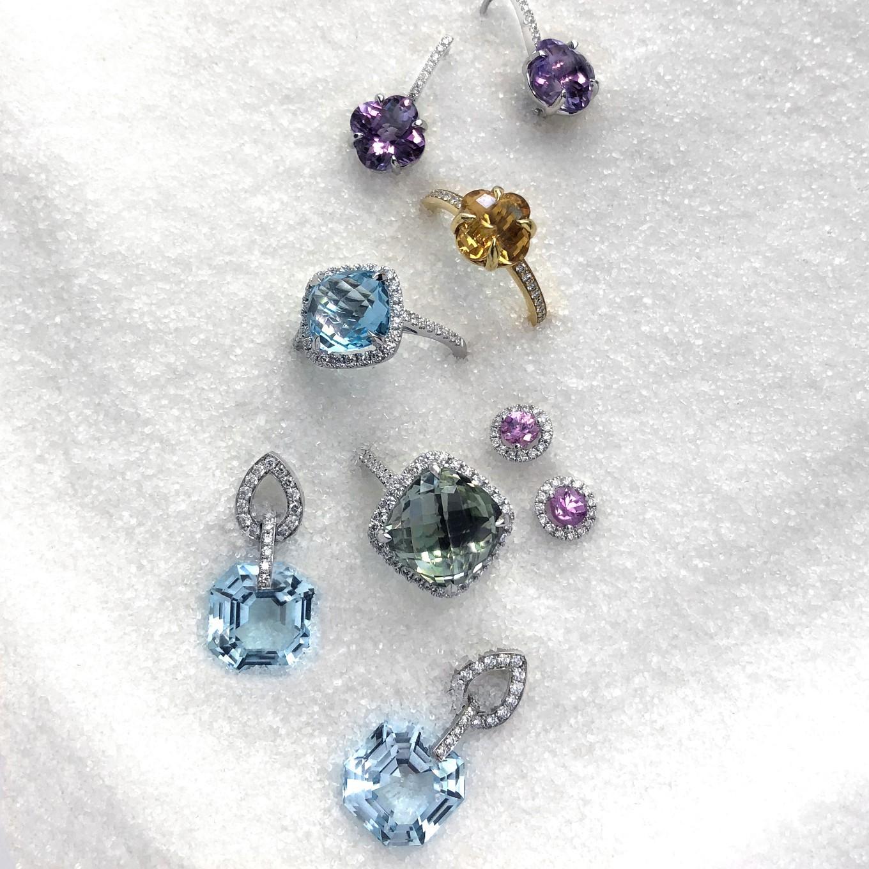 JdJ  STUDIO GEMSTONE & DIAMOND RINGS & EARRINGS