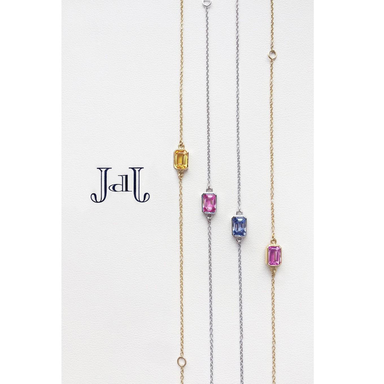 Emerald Cut Bracelets. Sapphires