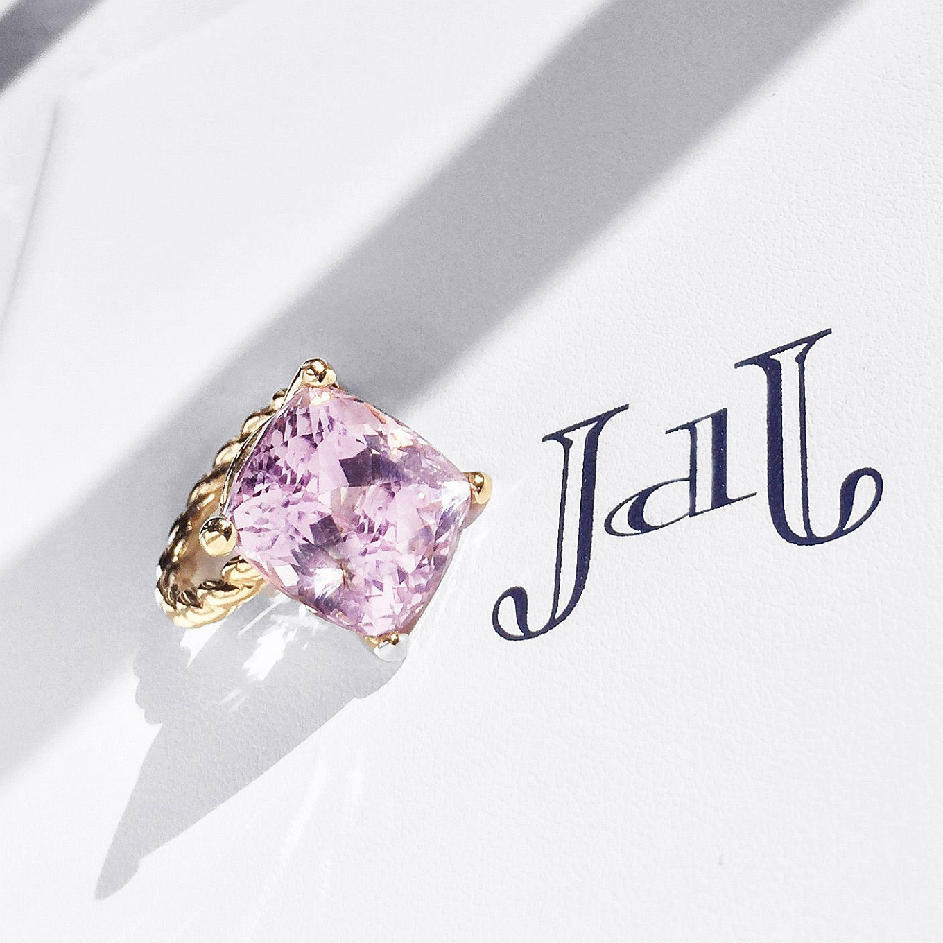 Statement Ring. Kunzite