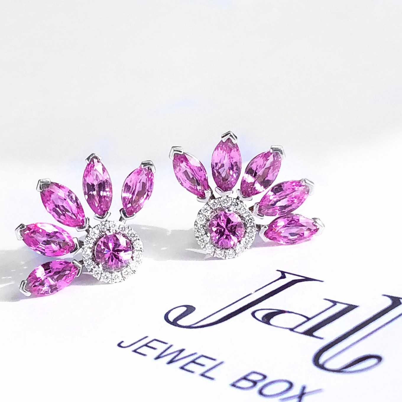 Pink Sapphire flare earring jackets