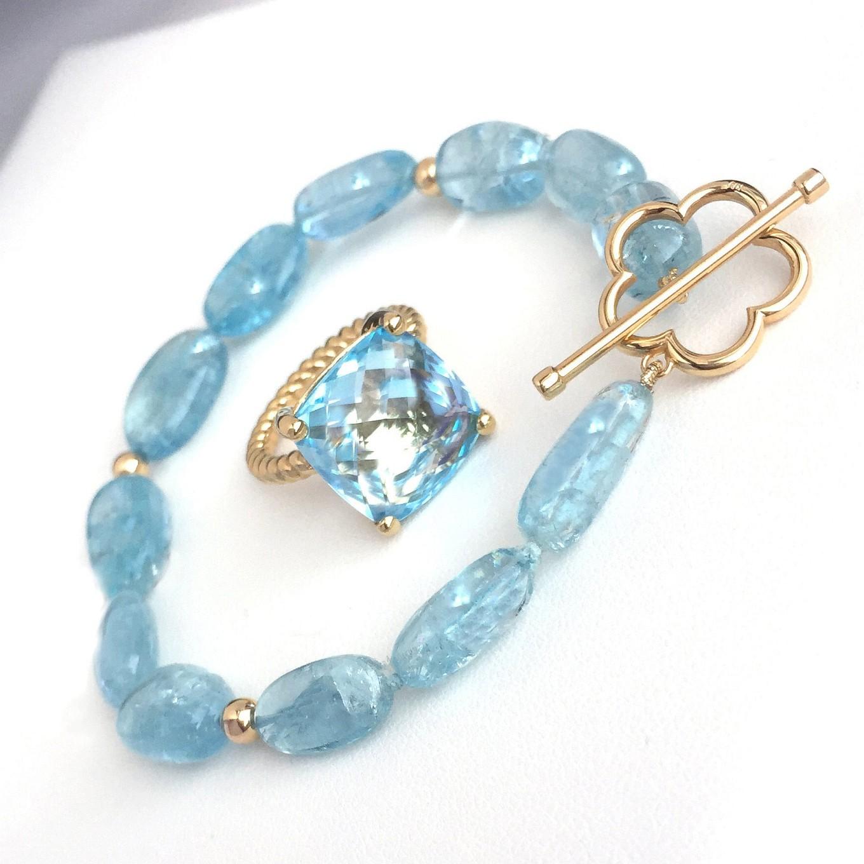 Blue topaz & aquamarine